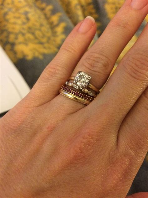 Beautiful Yellow Gold Wedding Band With White Gold