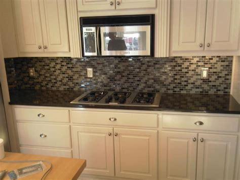 How To Apply Backsplash In Kitchen Glass Tile Backsplashes Photos
