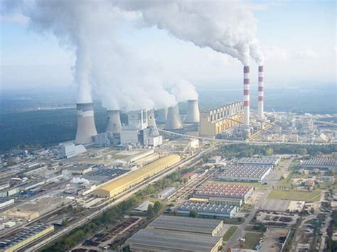 Belchatow map — satellite images of belchatow. Belchatow Power Plant, Poland - the biggest coal power plant in Europe