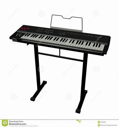Keyboard Electric Illustration Musical Instruments Background Digital