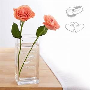 Originelle Geschenke Zur Hochzeit : vase zur hochzeit personalisiert individuelles hochzeitsgeschenk ~ Frokenaadalensverden.com Haus und Dekorationen