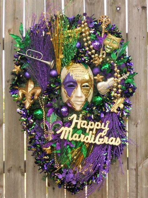 mardi gras wreaths and door wreath on pinterest