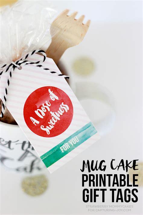 mug cake printable gift tags capturing joy  kristen duke