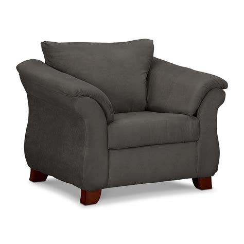 Living Room Furniture  Adrian Graphite Chair