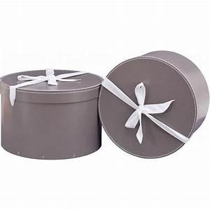 Boite Cadeau Ronde : boite chapeau en carton blanche x2 thisga ~ Teatrodelosmanantiales.com Idées de Décoration
