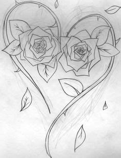 Cool Complex's Design Coloring Pages | coloring page of a flower heart tattoo with a spiral