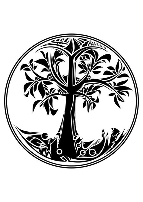 kleurplaat levensboom afb