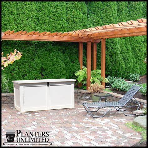 deck and dock boxes for outdoor storage planters