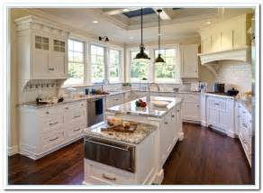 White Cabinets Countertops by White Kitchen Cabinets And Granite Quicua