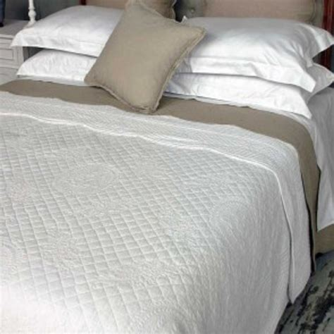 white quilted bedspread lx white large vintage stitched quilted bedspread