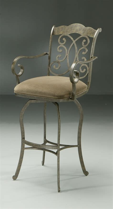 athena swivel barstool with arms pastel ah217