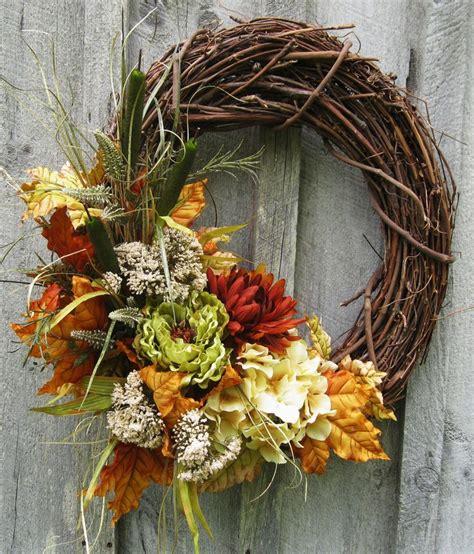 autumn wreath autumn splendor wreath
