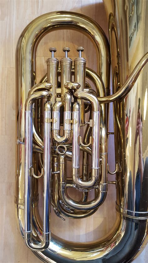 tuba bass imperial eeb boosey hawkes brass second hand background