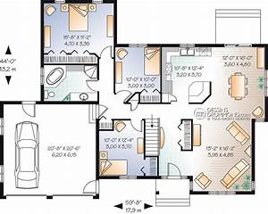 plan maison plain pied garage double With plan maison plain pied 4 chambres double garage