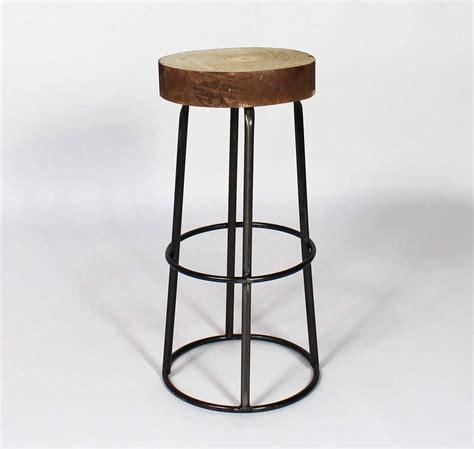 tabouret de bar avec assise tronc d arbre