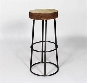 Chaise Bar Industriel : tabouret de bar avec assise tronc d 39 arbre ~ Farleysfitness.com Idées de Décoration