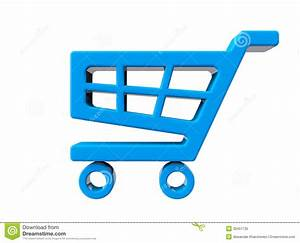 Blue Shopping Cart Icon Royalty Free Stock Photo - Image ...