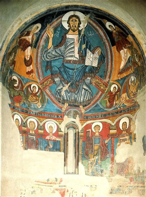 romanesque painting mural paintings