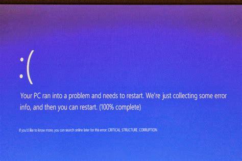 how do i fix the critical structure corruption error in windows 8 1