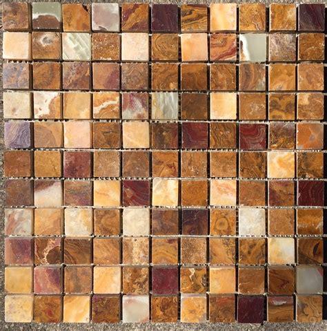 mosaic tile direct 4x4 sle of 1x1 multi colored onyx polished mosaic tiles