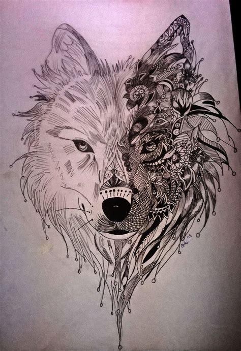 Loup Mandala Tatouage