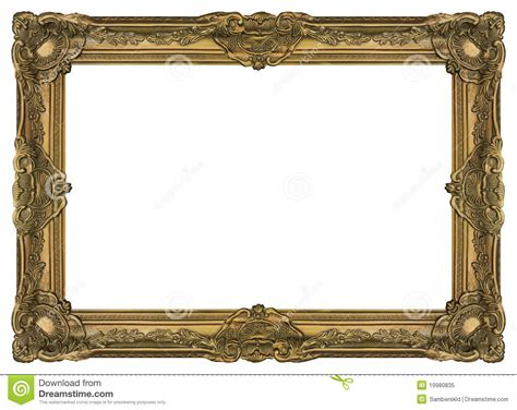 Large Old Gold Frame 002 Stock Image Image Of Deco