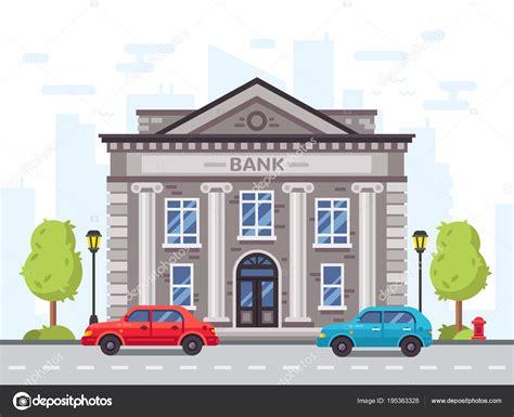 edificios de bancos animados edificio banco de dibujos