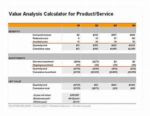 value analysis calculator value analysis template With net price calculator template