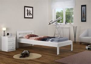 Futonbett 100x200 Weiß : massivholzbett kiefer wei einzelbett 100x200 real ~ Markanthonyermac.com Haus und Dekorationen