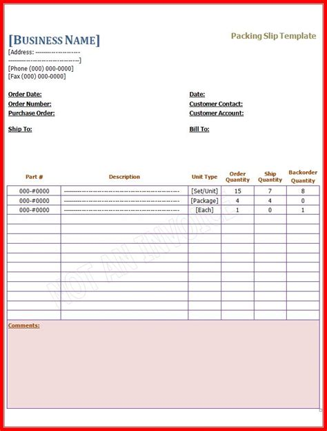 Packing Slip Template Docs by Packing Slip Template Free Word Templatesfree Word Templates