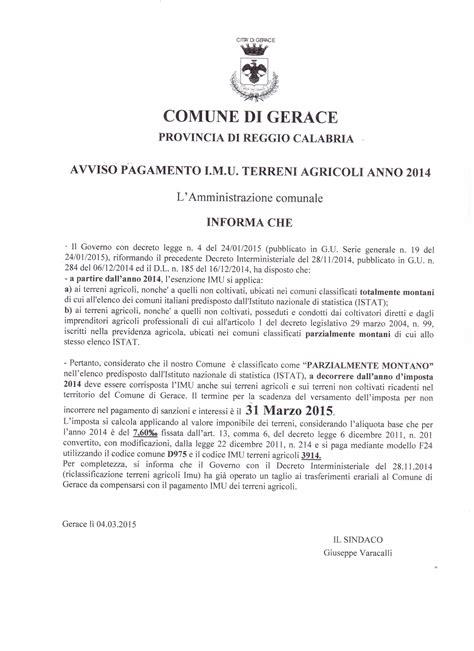 Comune Di Ufficio Imu by Tributi Comunali
