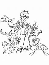 Coloring Pages Ben Ultimate Alien Boys Printable Recommended sketch template