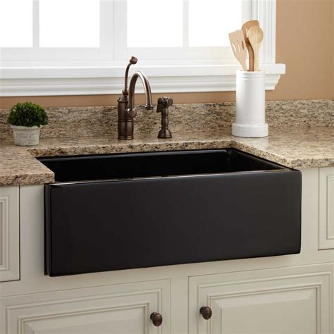 risinger fireclay farmhouse sink smooth apron