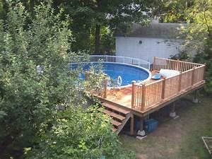 Pool Dach Rund : above ground pool decks idea for your backyard decor ~ Watch28wear.com Haus und Dekorationen