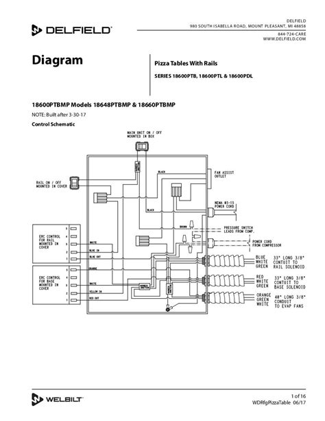 Wiring Diagram Table by Delfield Product