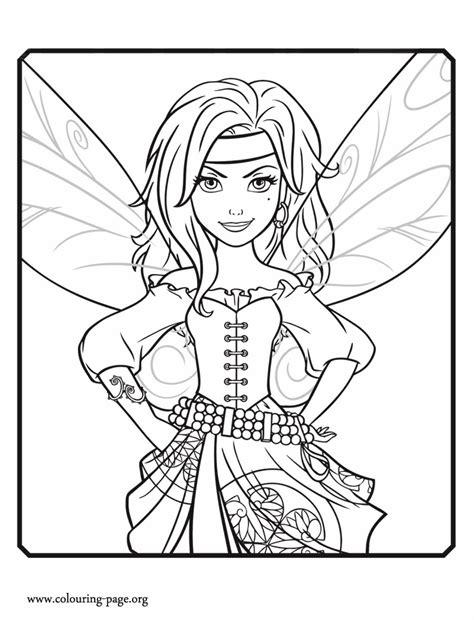 pirate fairy zarina coloring page