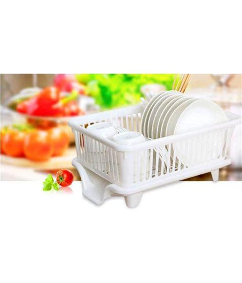 imported plastic dish drainer rack white buy  imported plastic dish