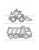 Coloring Truck Excavator Dump Land Digger Bagger Transport Cars Vehicles Kleurplaten Voertuigen Kolorowanka Escavatore Colorare Graafwerktuig Dla Bambini Libro Kinderen sketch template