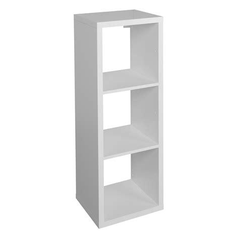 Bathroom Shelves B Q by Form Mixxit White 3 Cube Shelving Unit H 1082mm W 390mm