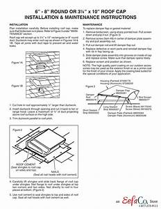 Roof Cap Installation Instructions