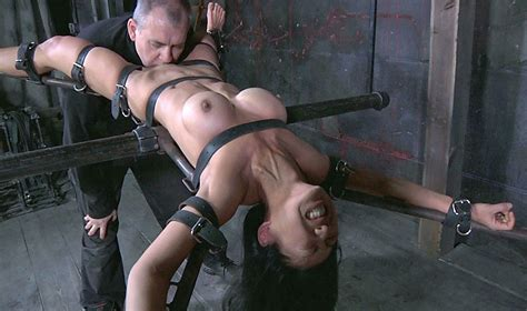 Girl Tied Spread Eagle Force