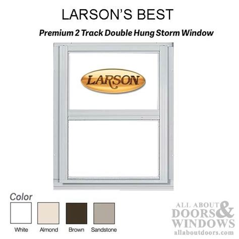 Larson Premium Double Hung  Track Storm Window Clear Glass