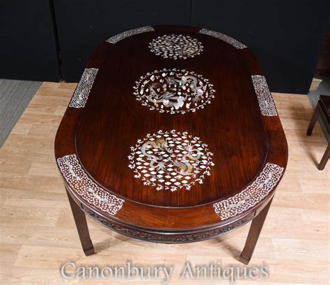 mother of pearl table l antique chinese dining set table and chairs mother of