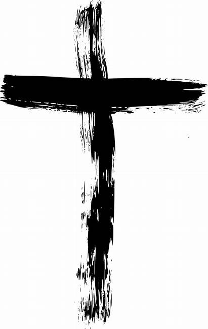 Cross Transparent Clipart Brush Crucifix Grunge Background