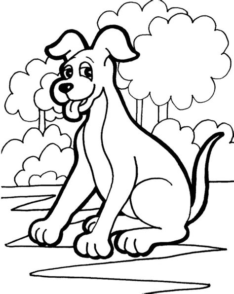 mewarnai gambar anjing untuk anak belajarmewarnai info