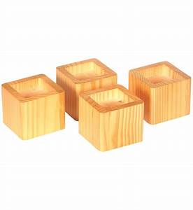 stacking wood bed risers natural honey in bed risers With furniture risers home depot