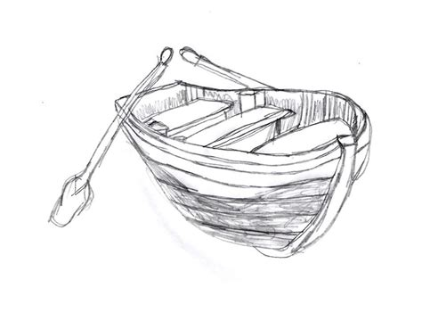 How To Draw A Wooden Boat by Wooden Boat Sketch By Drawingmanuals On Deviantart