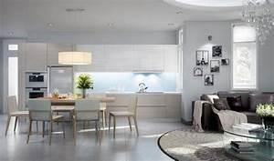 Wohnzimmer Mit Offener Küche : offene k che mit wohnzimmer pro contra und 50 ideen ~ Watch28wear.com Haus und Dekorationen