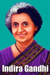 indira gandhi short biography  words