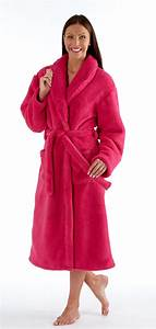 ladies luxury coral fleece bathrobe dressing gown robe With robe de chambre maille polaire femme